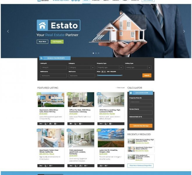 Real Estate Website Estato_1