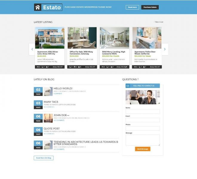 Real Estate Website Estato_2
