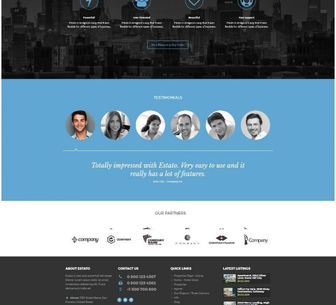 Real Estate Website Estato_3